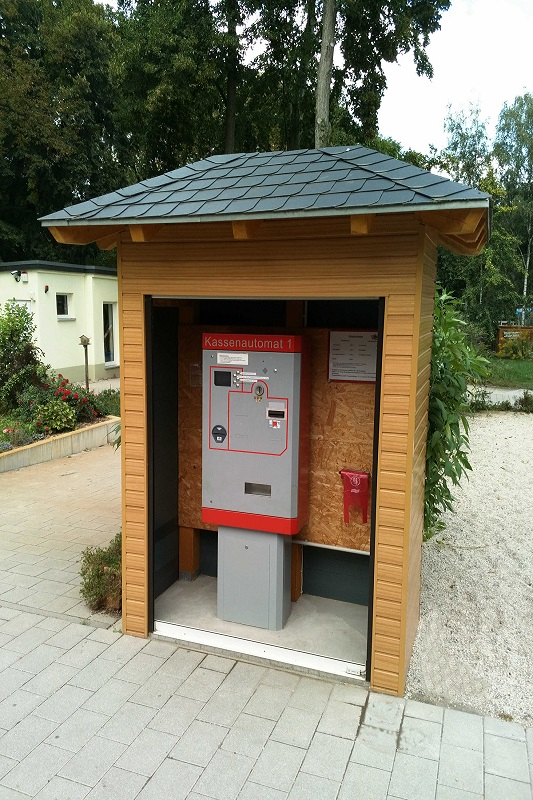 Kassenautomat vom Tierpark Senftenberg