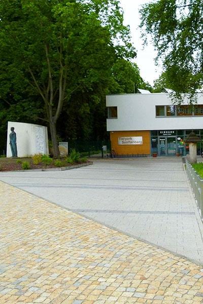 Außenansicht vom Tierpark Senftenberg